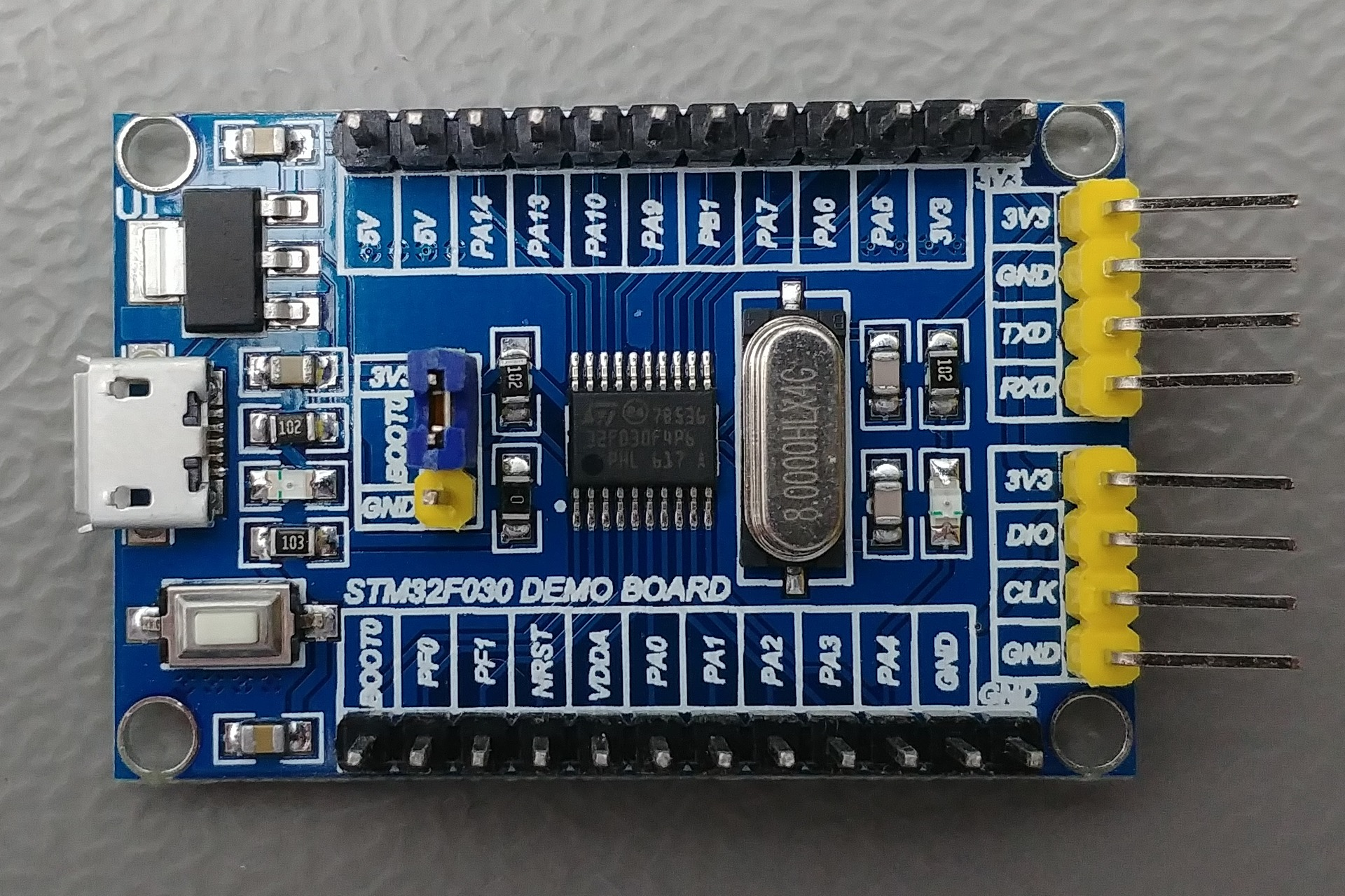 STM32F030 DEMO BOARD V1.1 Top view
