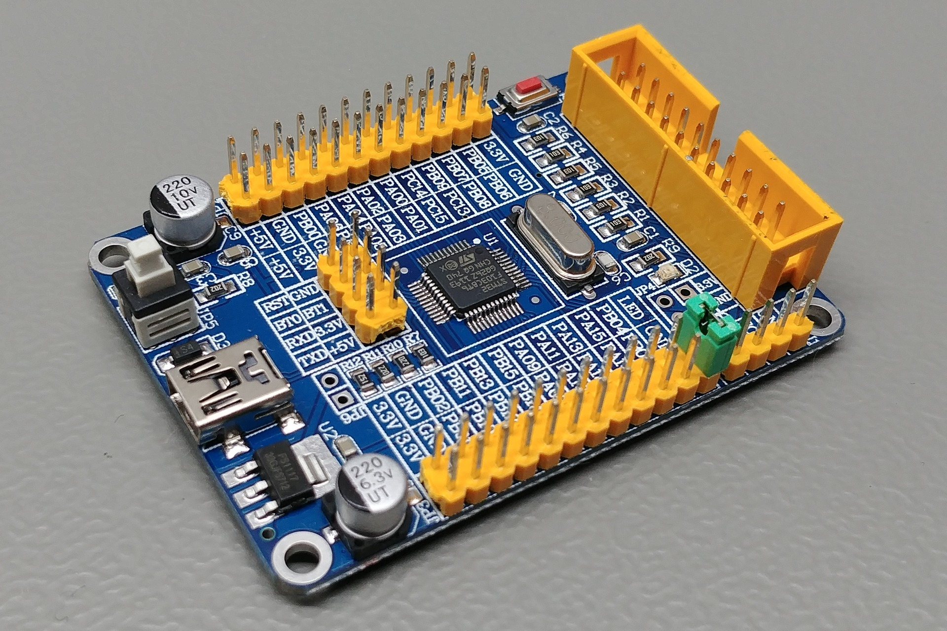 STM32FxCxT6 Board V5.02: Perspective view