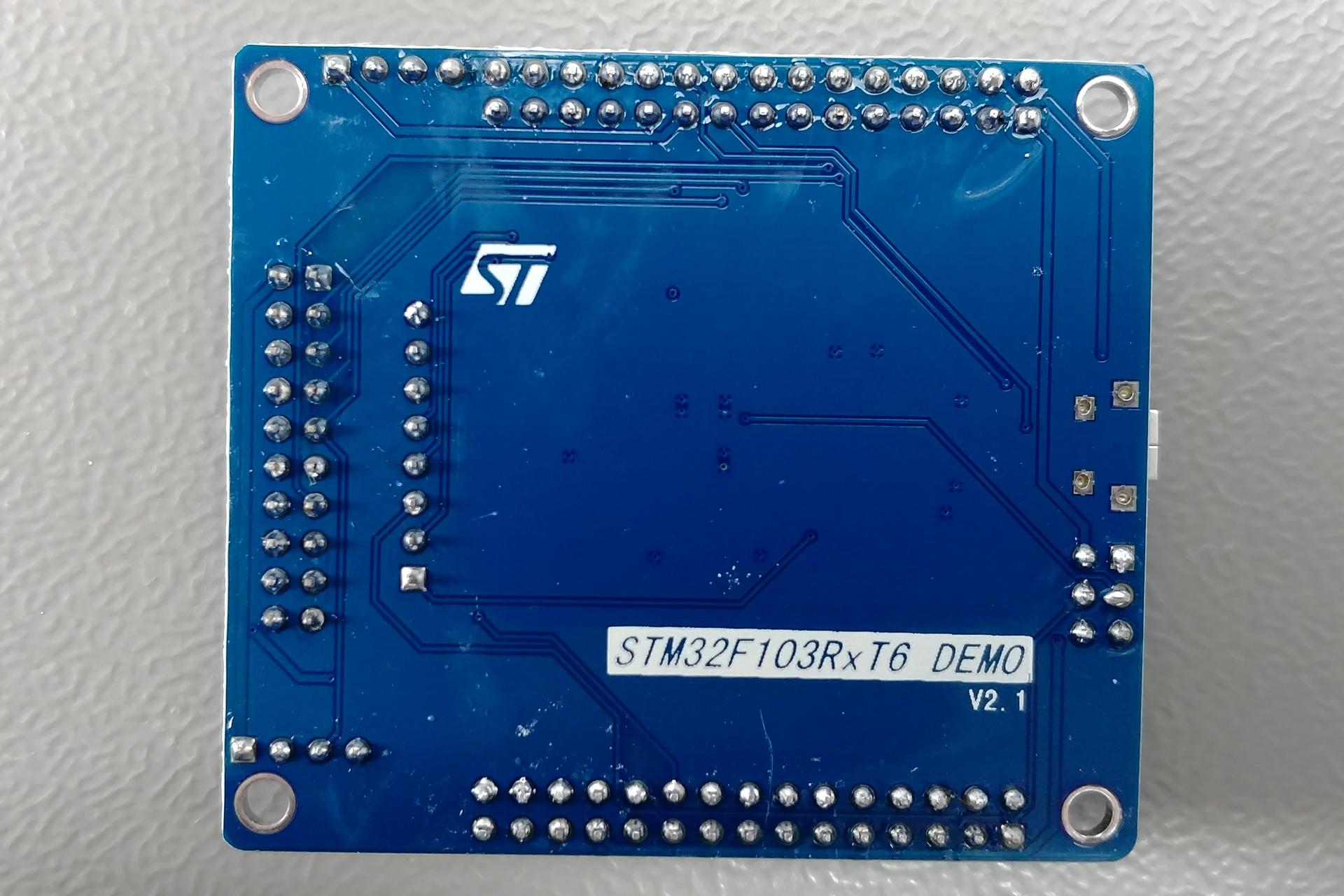 STM32F103RBT6 - STM32F103RxT6 DEMO Bottom view