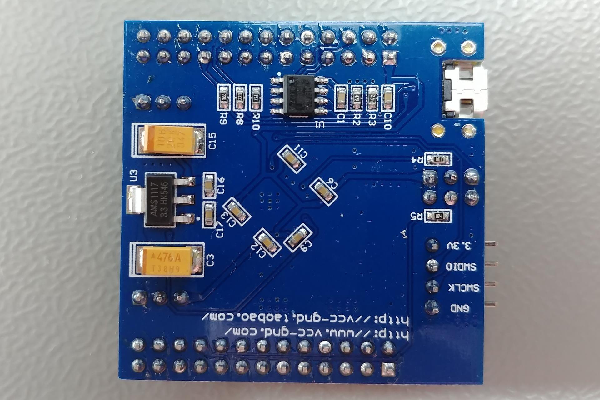 STM32F103RBT6 vcc-gnd.com Bottom view