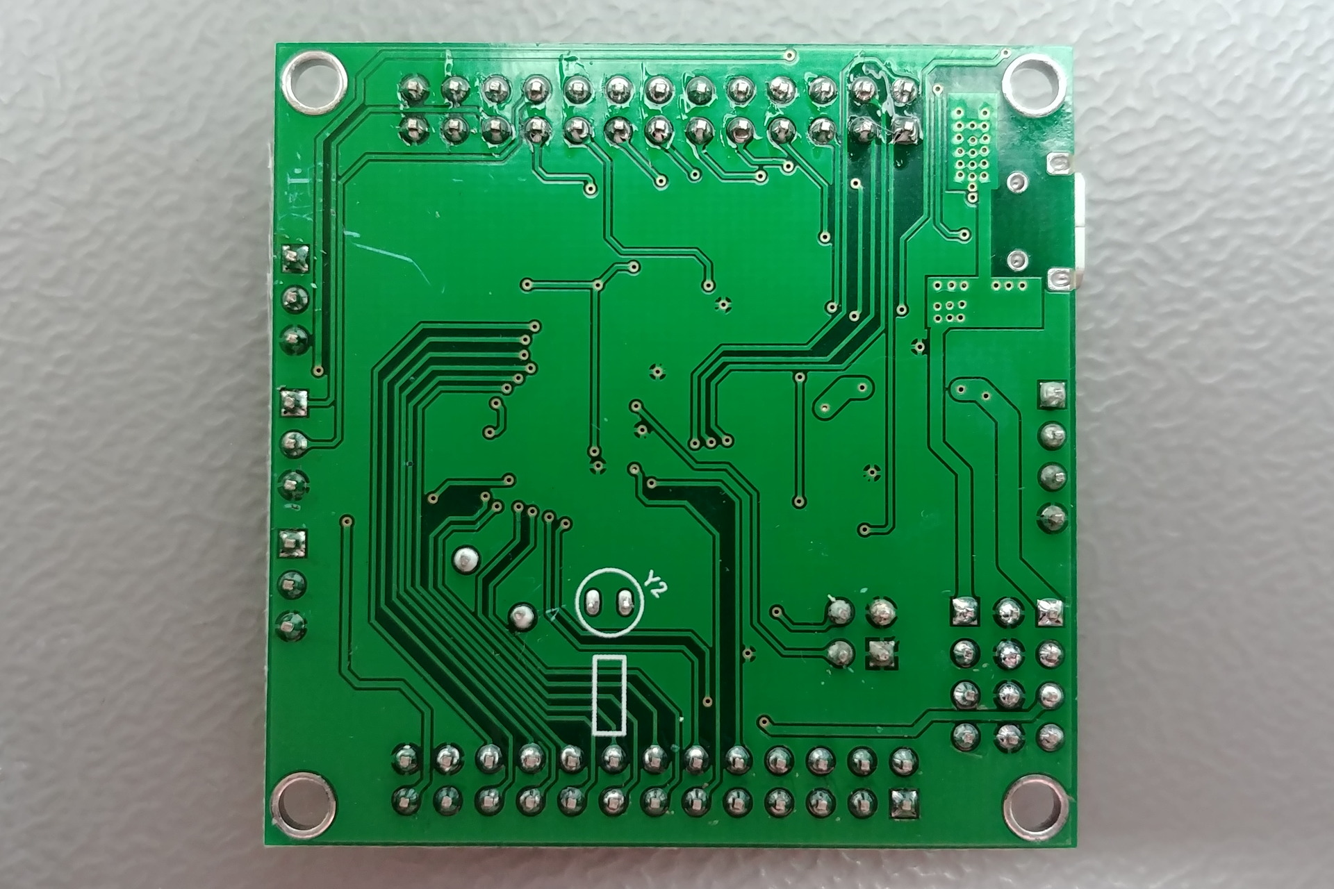 最小系统 (Minimal System) Board: Bottom view