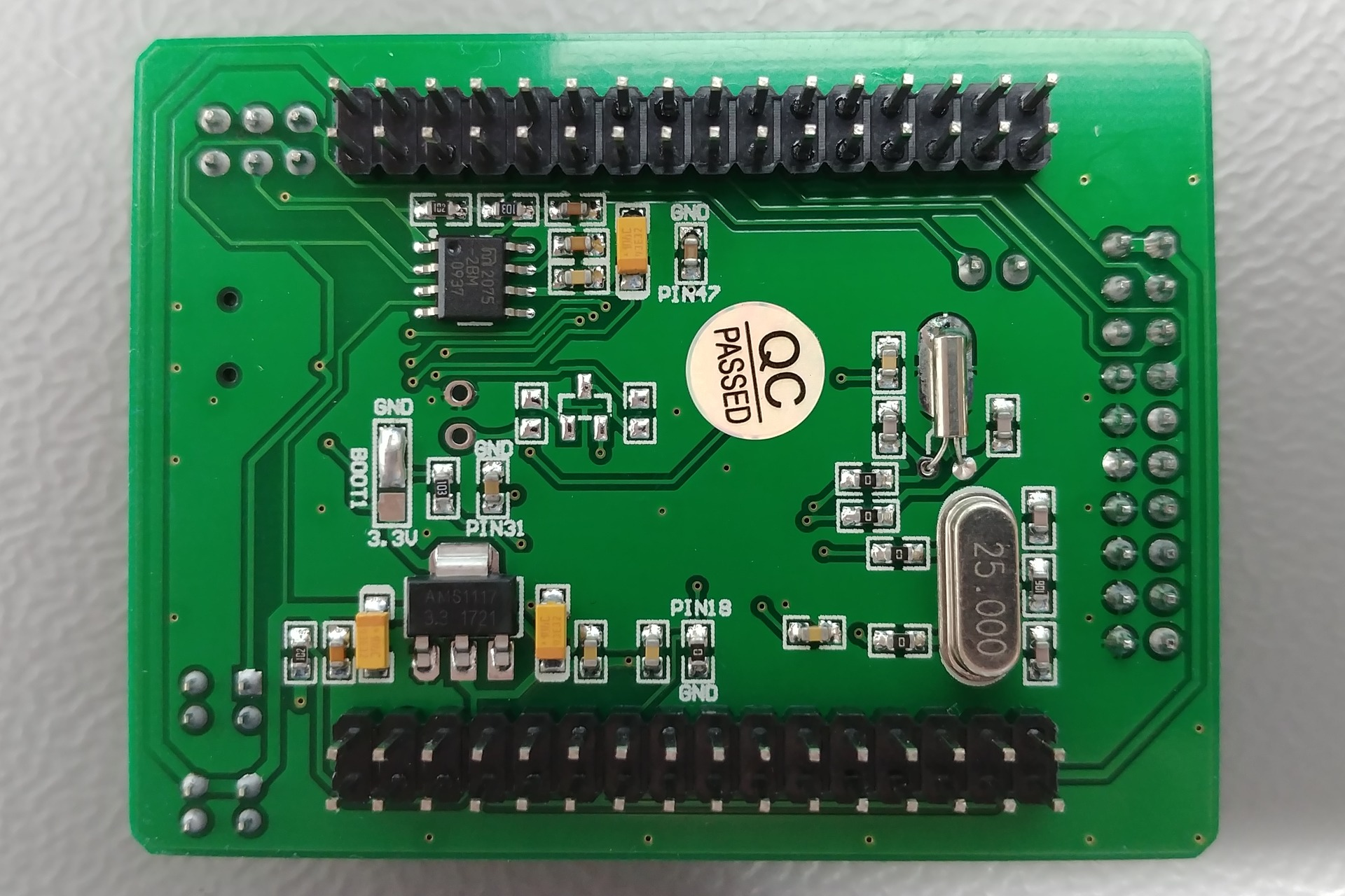 WaveShare Core205R board: Bottom view