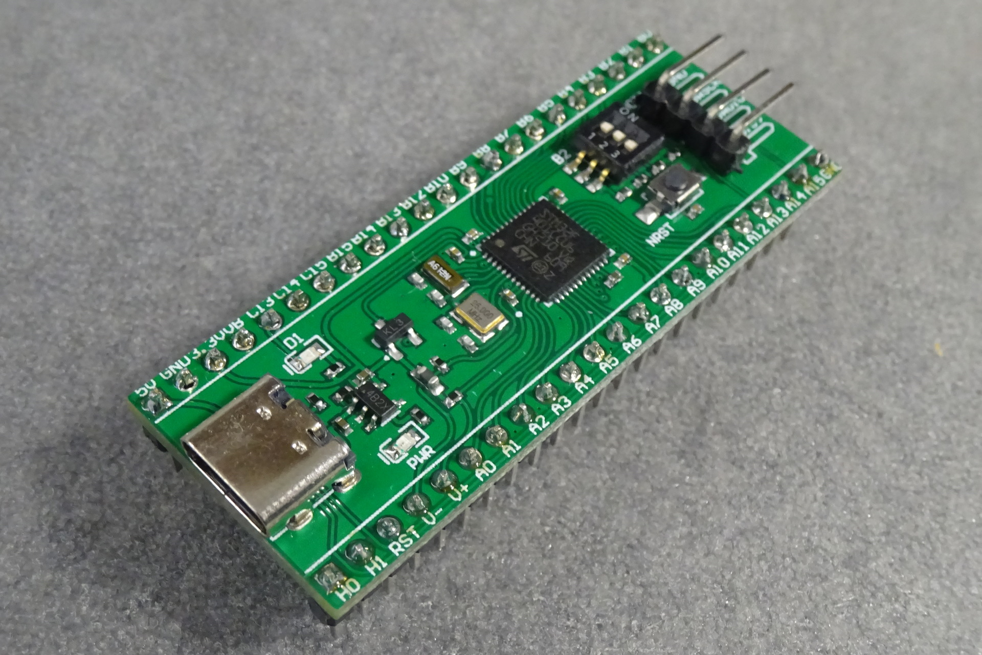 STM32 Mini F401: Perspective view