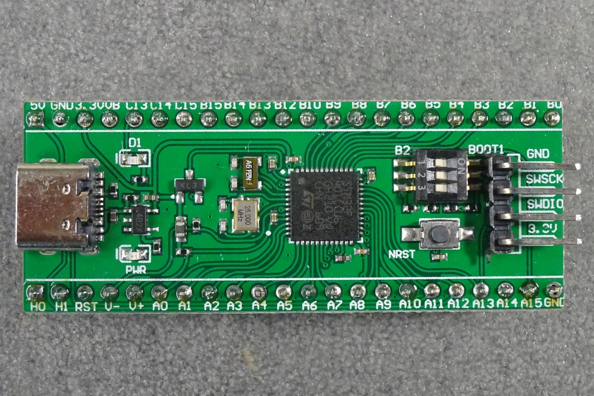 STM32 Mini F401: Top view