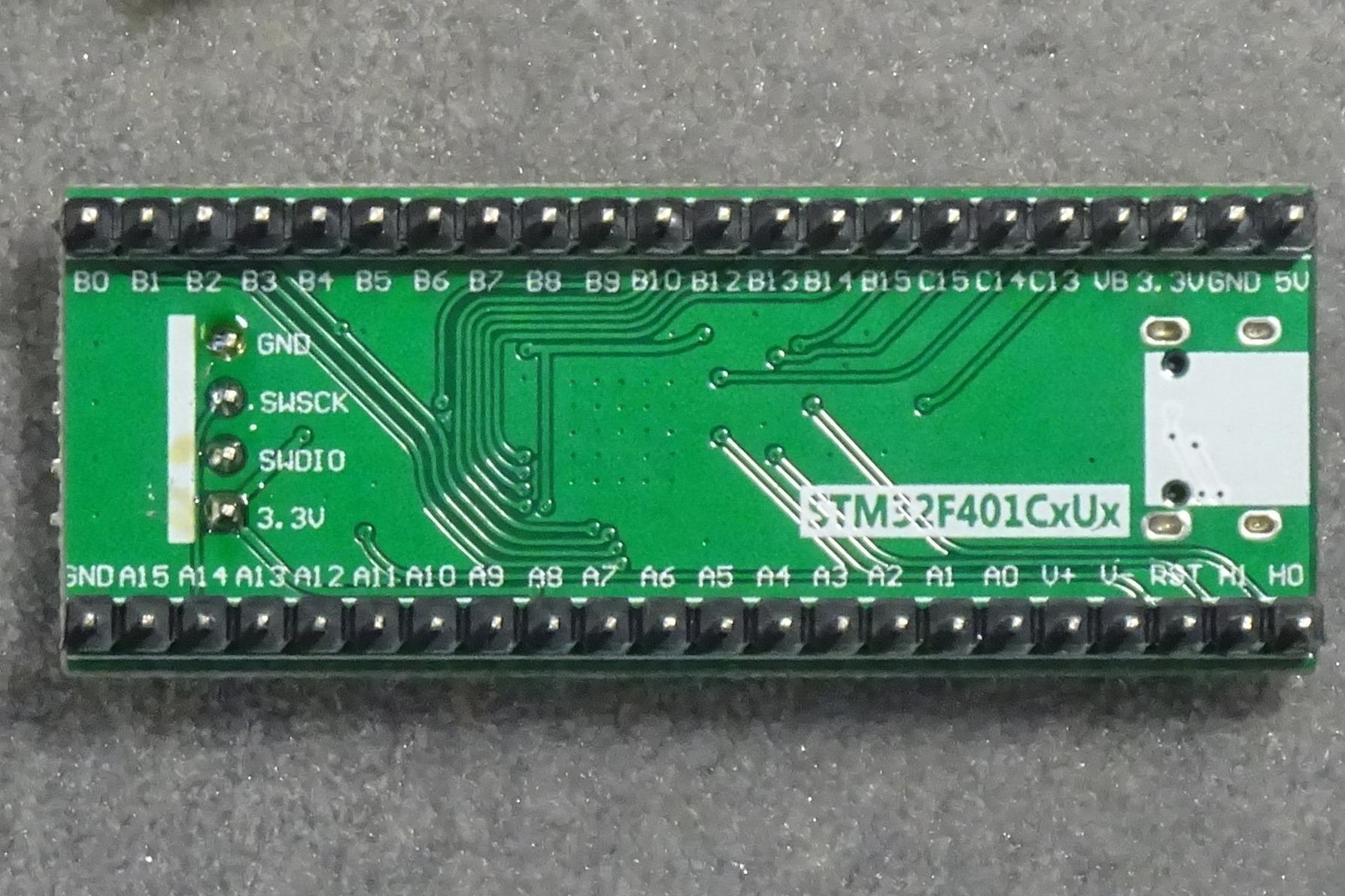 STM32 Mini F401: Bottom view