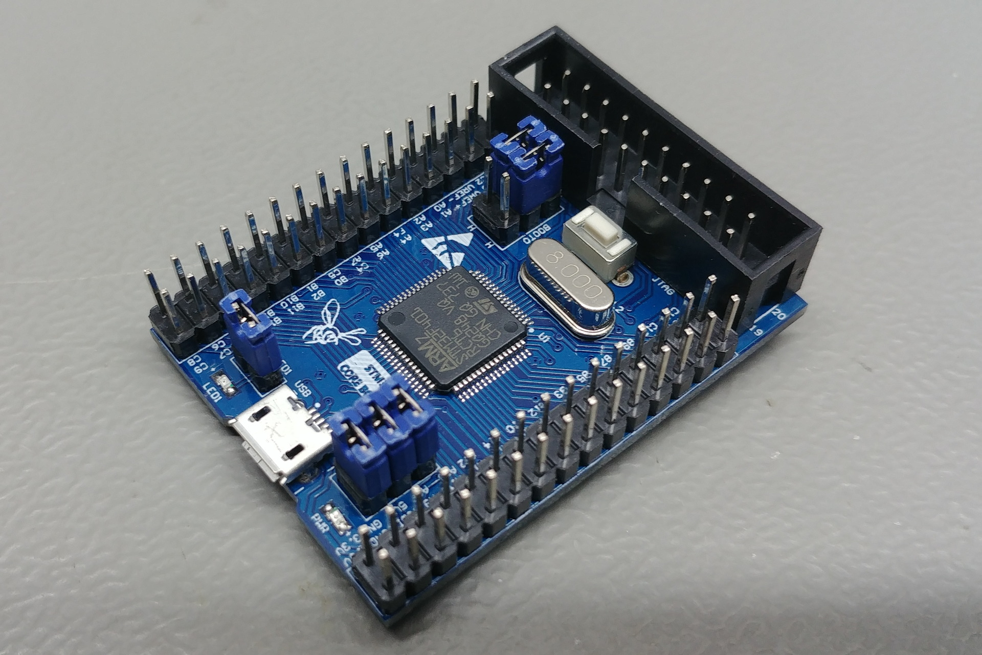 STM32F Core Board: Perspective view