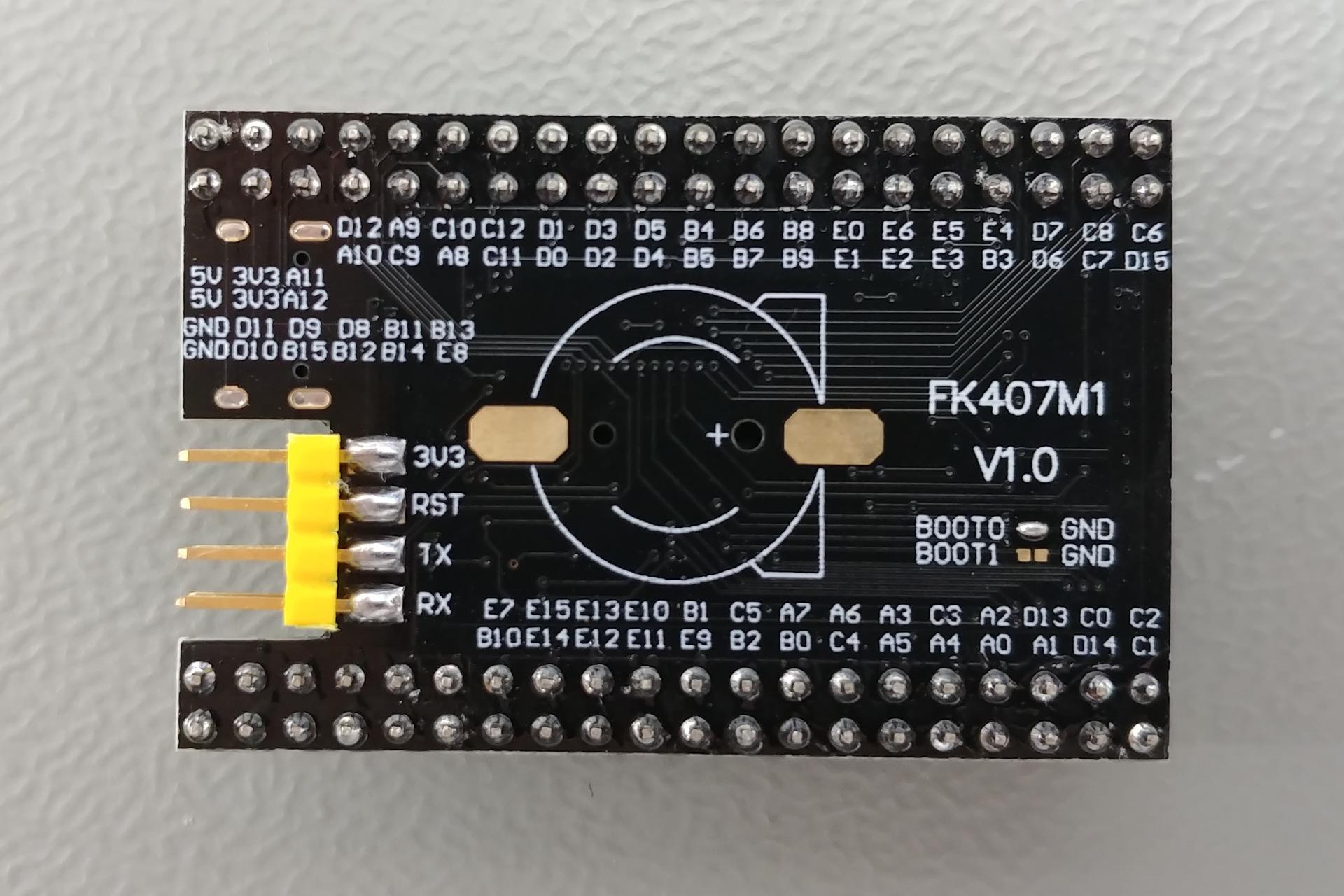 FK407M1 V1.0: Bottom view