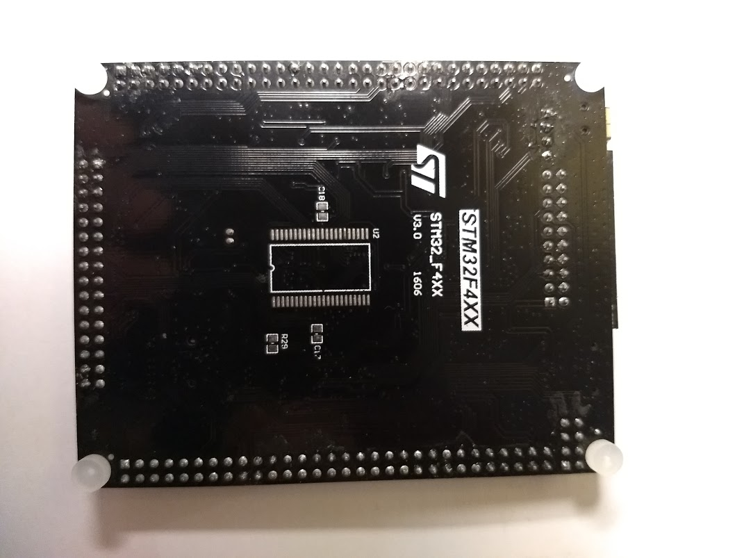 STM32F4XX board Bottom view