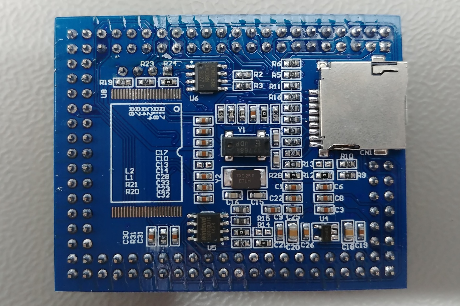 vcc-gnd.com STM32F407ZGT6 mini: Bottom view