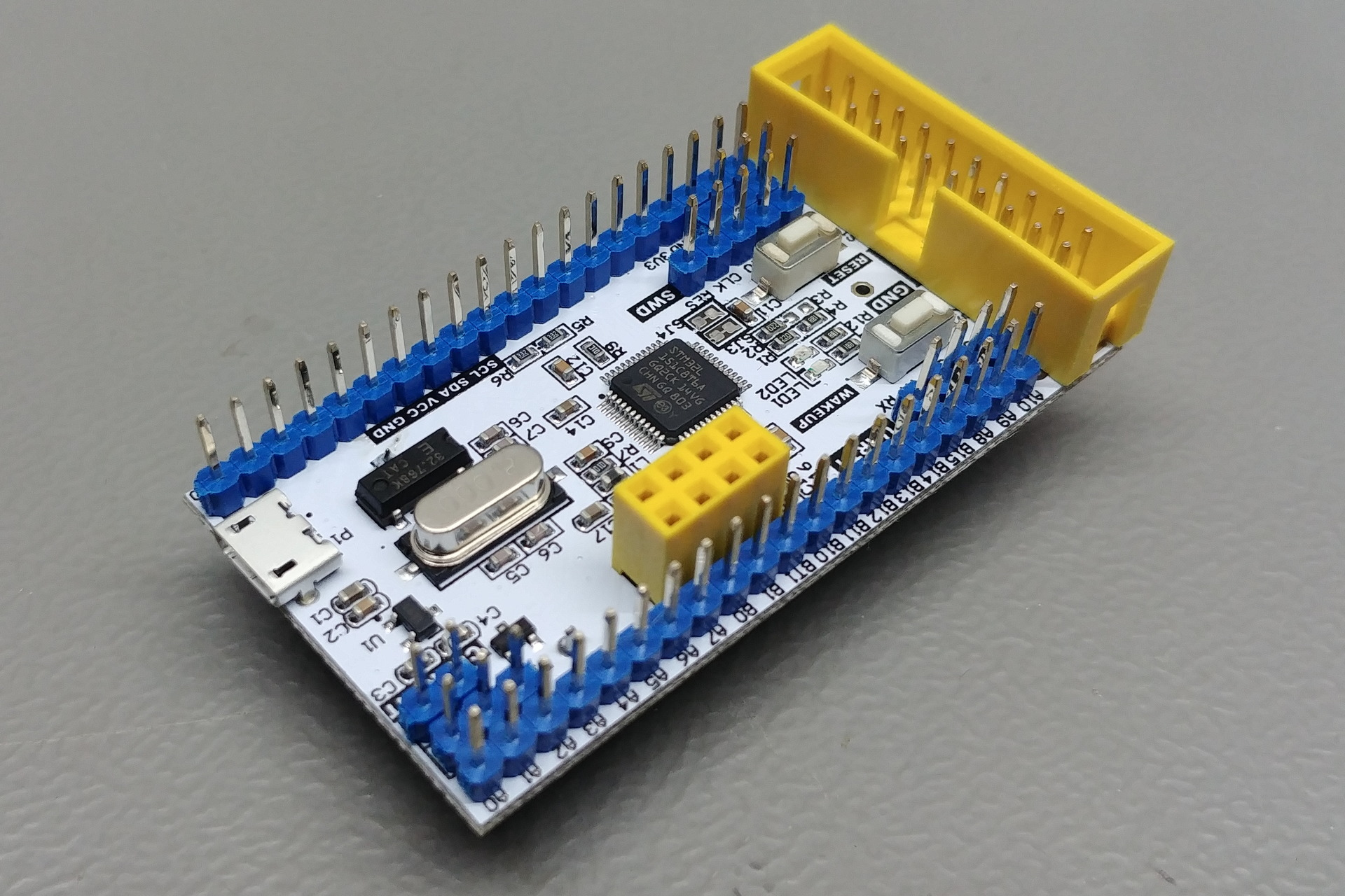 STM32xxxC8T6 Board: Perspective view